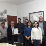 Visita al Círculo Lígure del dirigente escolar consular Riccardo Marola