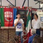 El Círculo Ligure fue parte del inicio del primer encuentro de la Accademia Italiana Hockey La Plata